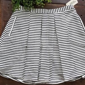 Nwt Forever 21 striped pleated skirt with pockets